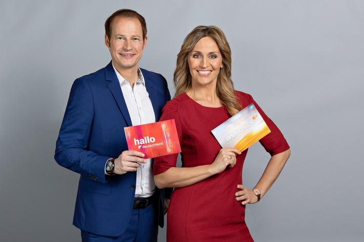 Tim Niedernolte und Sandra Maria Gronewald tauschen ihre Moderationsplätze bei den ZDF-Magazinen - Foto: obs/ZDF/Jana Kay